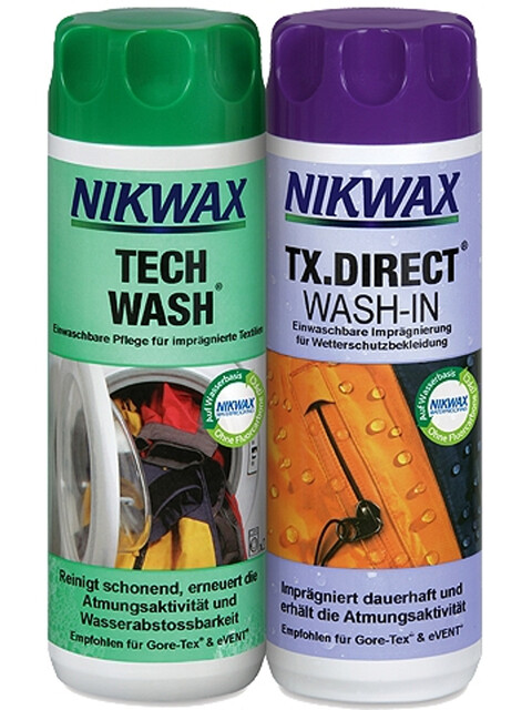 Nikwax Tech Wash + TX.Direct Wash-In 2 x 300 ml farverig